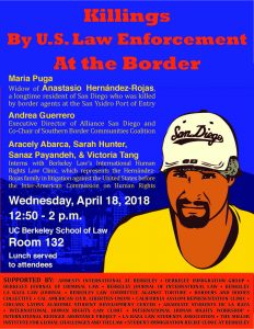Poster of event to discuss the killing of Anastasio.