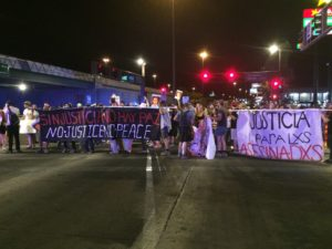 Protest in Tucson, Arizona in response to Lonnie Swartz's acquittal.