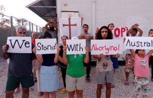 'We Stand With Aboriginal Australia' Protest photo, Nauru RPC, 2017