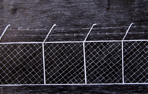 'Villawood Fence', Refugee Art Project Surviving Detention Series, Villawood NSW.
