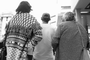 Ms Dhu's Mother, Uncle and Nana walking to court, Whadjuk Country (Perth), 23 March 2016