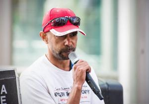 Shaun Harris speaks at Justice For The Tortured In Don Dale rally, Whadjuk Country (Perth), 30 July 2016