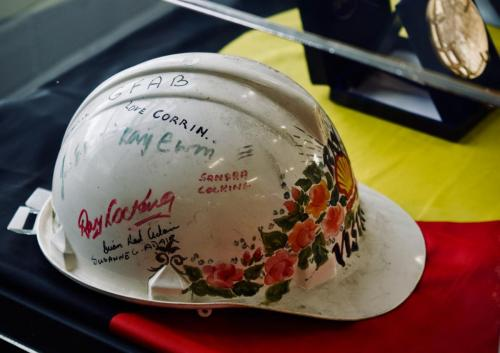 Uncle Ray's Shell Oil Safety Helmet