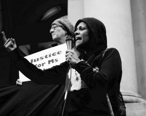 Protest to mark tne Year Anniversary of Ms Dhu's death in custody, Narrm (Melbourne), 4 August 2015