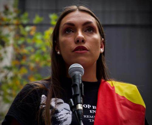 Apryl Watson, Justice for Tanya Day, Naarm, Kulin Nations (Melbourne), 2019.
