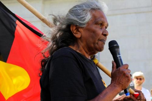Aunty Barb, National Day of Action #SayTheirNames, Whadjuk Nyoongar Country, 2016
