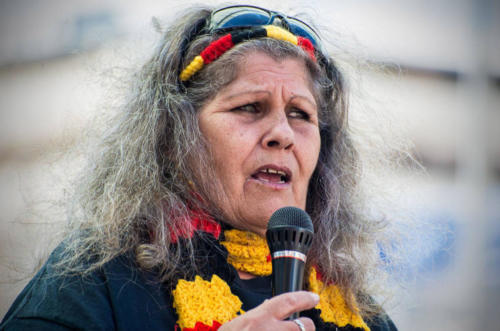 Aunty Caroline Kirk, Our Children Are Our Future Protest, Whadjuk Nyoongar Country, 2018