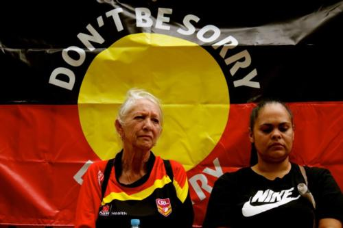 Aunty Hazel Collins, Grandmothers Against Removals Rally, Gadigal Country, 2018.