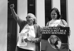Ms Dhu's Mother, and Nana outside court, Whadjuk Country (Perth), 23 March 2016