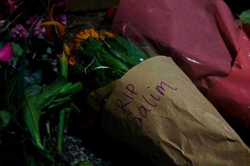 Bouquet of flowers at Vigil for Salim, Narrm, Kulin Nations (Melbourne), 2018.