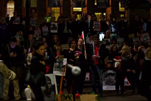 Supporters gather at Vigil for Salim, Narrm, Kulin Nations (Melbourne), 2018.