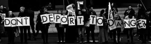 Qantas/Jetstar take a stand for the safety of asylum seekers, Narrm, Kulin Nations (Melbourne), 2018.