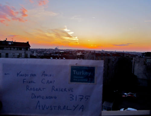 Dead Letter Envelope addressed to Khodayar Amini's Final Camp, Turkey, 2017.