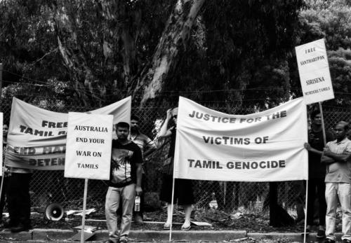 Don't Deport Santharuban Protest, Melbourne Immgration Prison (MITA Broadmeadows), Naarm, Kulin Nations, 2018.