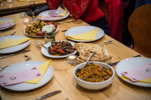 Food For Thought dinner hosted by ASeTTS, Centre for Stories, Whadjuk Nyoongar Country,  2017.