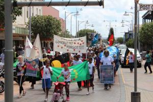 National Day of Action, Ms Dhu's family and community rally in the streets of Geraldton, 23 October 2014