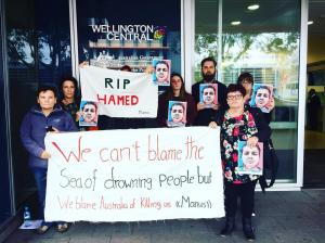 Protest for Hamed outside DIBP, Nyoongar Country (Perth), 2017