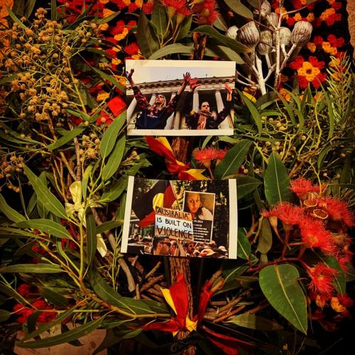 Invasion Day Floral and Photo Memorial, Narrm (Melbourne)