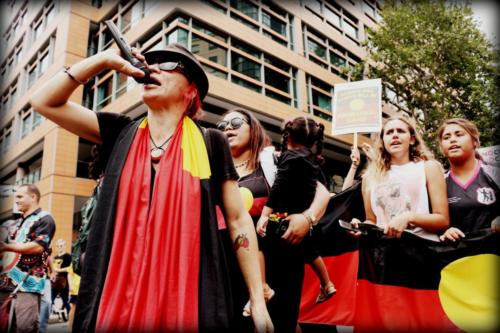 Elizabeth Jarrett, Invasion Day Protest, Gadigal Country, 2017
