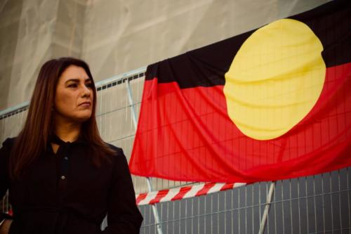 Lydia Thorpe, Rally for Redress - Stand With Stolen Generations, Naarm Kulin Nations, 2018.
