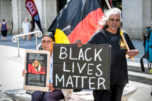 'Black Lives Matter' protest, Whadjuk Country (Perth), 2016.