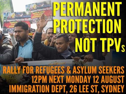Permanent Protection Not TPVs Protest Flyer, 2019.