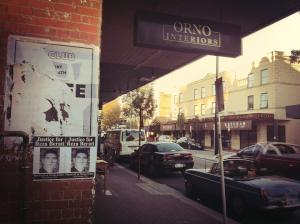 Justice for Reza Barati Posters on Beaufort Street, Perth, 2014.