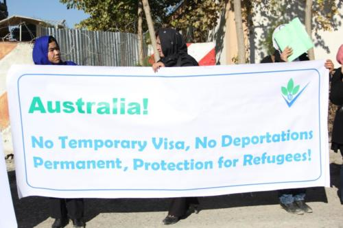 Protest Against Afghan Deportations, outside Afghan Parliament Kabul, 2013.