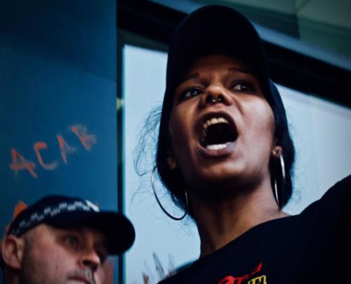 Ruby Wharton, Warriors of the Aboriginal Resistance Occupation of QLD Police HQ, Meanjin, 2018.
