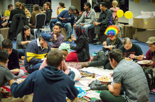 Students for Refugees Community Dinner, Whadjuk Nyoongar Country, 2016.