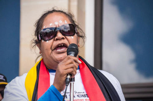 Vanessa Culbong,  Stop Deaths in Custody National Day of Action, Whadjuk Nyoongar Country, 2014